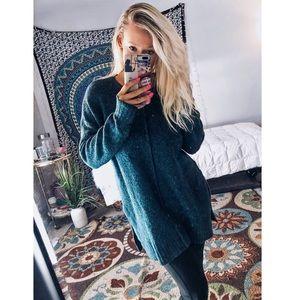 Loft | Blue Wool Tunic Sweater